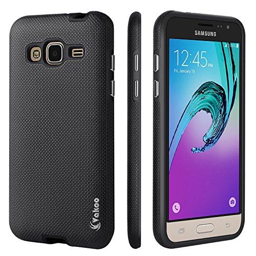 Galaxy J3 Case, Express Prime Case, Amp Prime Case, Vakoo (Shock Absorption) Hybrid Armor Defender Protective Case Cover for Samsung Galaxy J3 2016 / Express Prime / Amp Prime (Black)