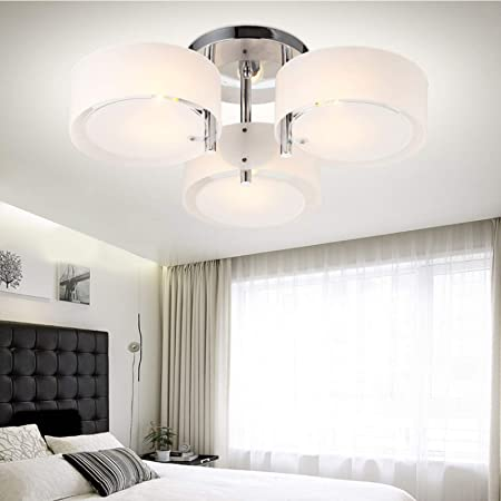 Dhoutdoors Modern Ceiling Light Round Indoor Lighting For Living Room Bedroom Kitchen E27 Creative Pendant Lamp No Bulbs 3 Way Amazon Co Uk Kitchen Home