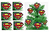 SUPERMAN Man of Steel Holiday Christmas Ornament Set - Unique Shatterproof Plastic Design
