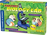 Thames & Kosmos Kids First Microscope & Biology Lab | Science Kit | 144X to 750X Magnification | 32 Page Color Manual | Includes Slides, Specimens & Tools | Academic's Choice Brain Toy Award Winner