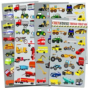 Crenstone Cars and Trucks Stickers Party Supplies Pack Toddler — Over 160  Stickers (Cars, Fire Trucks, Construction, Buses and More!) 61ZCqY mVML