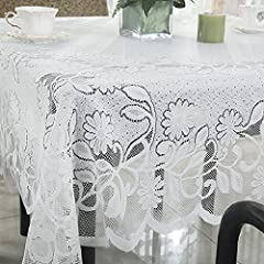 R.LANG Shabby Chic Vintage Tablecloth White 94