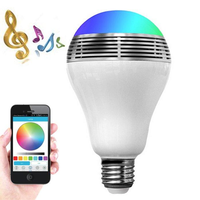 Smart LED Light Bulb Bluetooth Speaker
