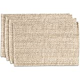 Sweet Home Collection Trends Two Tone 100% Cotton Woven Placemat (4 Pack), 13' x 19', Eggshell