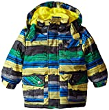 Rugged Bear Baby Boys' Stripe Ski Jacket, Black, 18 Months