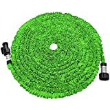 soled Expandable Garden Hose, 75ft Strongest Expanding Garden Hose on The Market with Triple Layer Latex Core & Latest Improved Extra Strength Fabric Protection for All Your Watering Needs(Green)