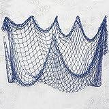 Bilipala Decorative Fish Netting, Fishing Net Decor, Ocean Pirate Beach Theme Party Decorations, Mediterranean Decor, Blue