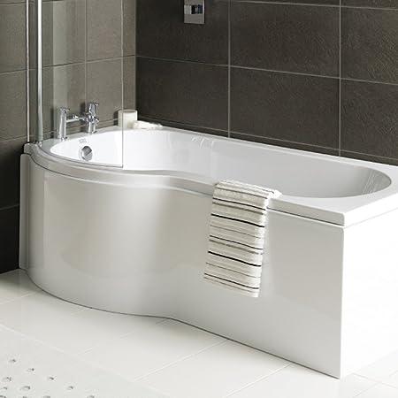 Jl Bathrooms Summit P Shape Bath Acrylic Bath Panel 1700 White Amazon Co Uk Kitchen Home