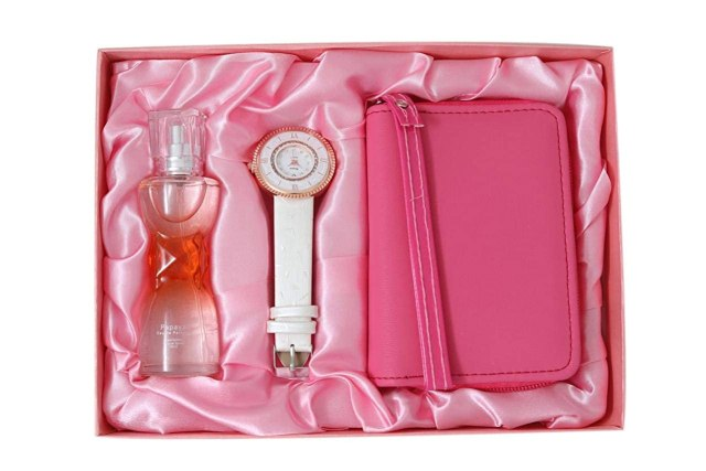 Perfume, Watch and Clutch