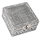 Friends Lifes Greatest Gifts Silver Color Metal Jewelry Keepsake Decorative Box