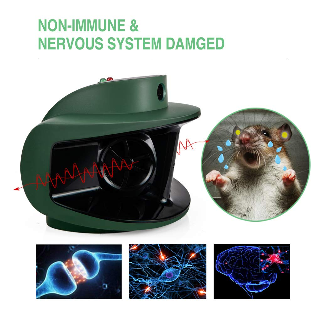 Diatec Ultrasonic Electronic Squirrel Rodent Pest Repeller