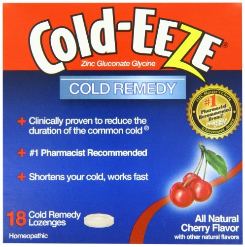 COLD-EEZE Lozenges All Natural Cherry Flavor 18 EA - Buy Packs and SAVE (Pack of 2)