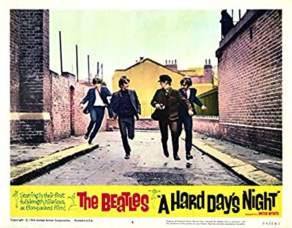 Image result for a hard day's night movie poster