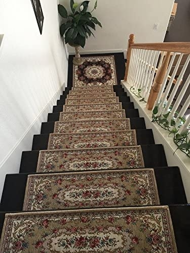 Acrylic Non Slip Stair Runners Rug Stair Treads Carpet Stair | Carpet For Stairs Amazon | Indoor Stair | Anti Slip | Stair Runner Rugs | Self Adhesive | Beige