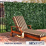 Windscreen4less Artificial Faux Ivy Leaf Decorative Fence Screen 58.5' x 117' Ivy Leaf Decorative Fence Screen