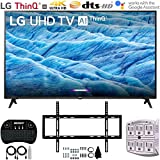 LG 70UM7370PUA 70' 4K HDR Smart LED IPS TV w/AI ThinQ (2019) + Flat Wall Mount Ultimate Bundle + 2.4GHz Wireless Keyboard Smart Remote w/Touchpad + 6-Outlet Surge Adapter w/Night Light