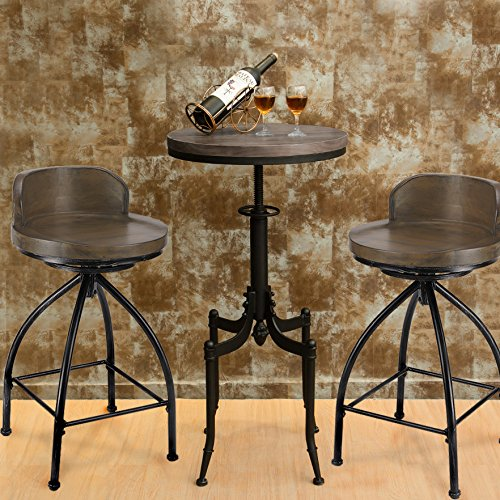 Amazon Kitchen Bar Stools: FIVEGIVEN Rustic Industrial Counter Stool 24 Inch Bar