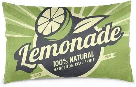 iksrgfvb Fundas de Almohada 16X24 Pulgadas Lemon Slice and