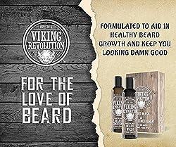 Viking Revolution Beard Wash & Beard Conditioner Set w/Argan & Jojoba Oils – Softens, Smooths & Strengthens Beard Growth - Natural Peppermint and Eucalyptus Scent - Beard Shampoo w/Beard Oil (5 oz)  Image 1