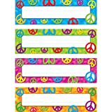 Trend Enterprises Inc Peace Signs Desk Toppers Name Plates Variety Pack, 32/pkg