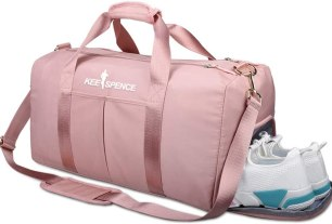 Gym Duffle Bag - with Shoe Compartment