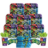 B-THERE Rise of The Teenage Mutant Ninja Turtles Party Pack - Seats 8: Napkins, Plates, Cups and Stickers - Childrens Rise of The TMNT Party Supplies