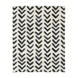 KARUILU home Quick Fix Washable Roman Window Shades Flat Fold, Black and White Pattern (48W x 72H, Inkflow)