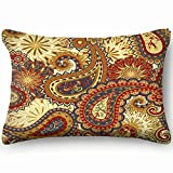 Ethnic Traditional Style Abstract Vintage Home Decor Wedding Gift Engagement Present Housewarming Gift Cushion Cover 20X30 Inch