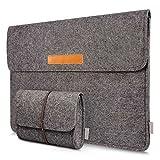 Inateck 13-13.3 Inch Laptop Sleeve Case Bag Compatible MacBook Air/MacBook Pro Retina 2012-2015/12.9' iPad Pro, Dark Gray