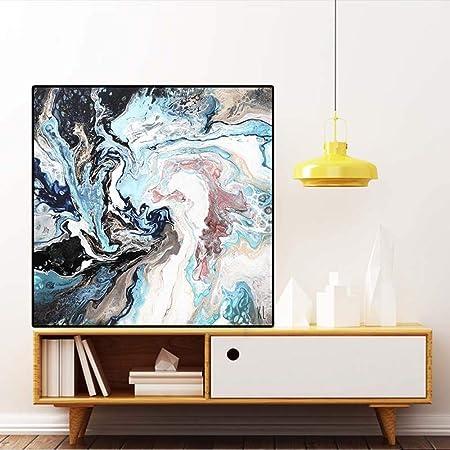 Geiqianjiumai Peinture à l'huile Abstraite colorée sur Une Affiche ...