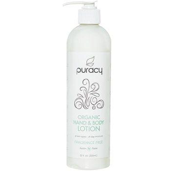 Puracy Organic Hand & Body Lotion, Fragrance Free Natural Moisturizer, 12 Ounce