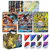 Totem World 5 Oversized Jumbo Pokemon Cards with 100 Sleeves and Deck Box in Collectors Chest