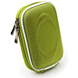 VanGoddy Semi Hard Slim Nylon Carrying Case for SVP Aqua - 5800 Waterproof Digital Camera (Green)