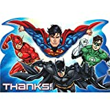 """Amscan Adventure Filled Justice League Birthday Party Postcard Thank You Cards, Multicolor, 4 1/4"""" x 6 1/4"""""""