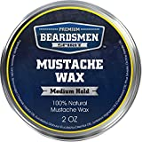 Premium Mustache Wax - HUGE 2 oz Metal Tin - THREE TIMES LARGER - Expert Crafted With 100% Natural...