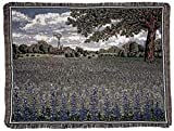 Simply Home Field of Texas Bluebonnet Flowers Tapestry Throw Blanket 50