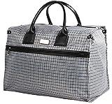 Nicole Miller New York Luggage Taylor Box Bag (Blue Plaid)