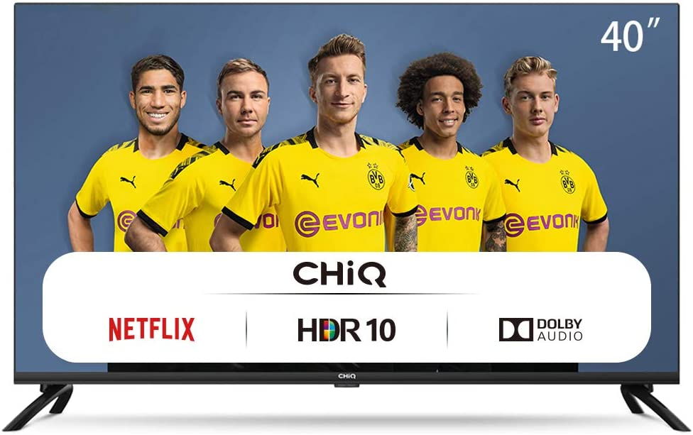 CHiQ L40H7N, 40 Pouces, Téléviseur Full HD, Smart TV, 1080p, WiFi, Bluetooth, Prime Video, Youtube, Netflix, 3 HDMI, 2 USB, Triple Tuner
