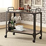 Product review for ACME Caitlin Rustic Oak and Black Serving Cart
