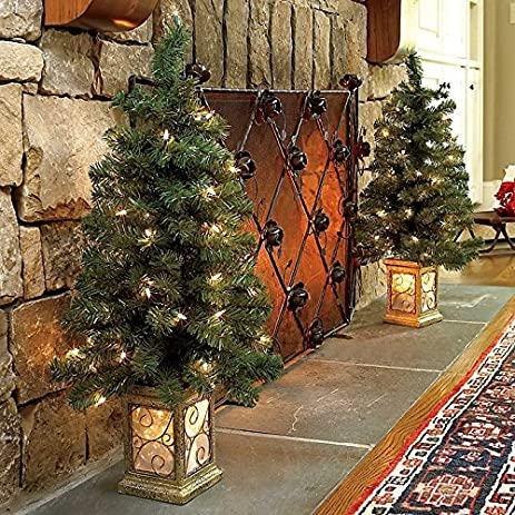 3 Ft Pre Lit Entryway Trees Set Of 2
