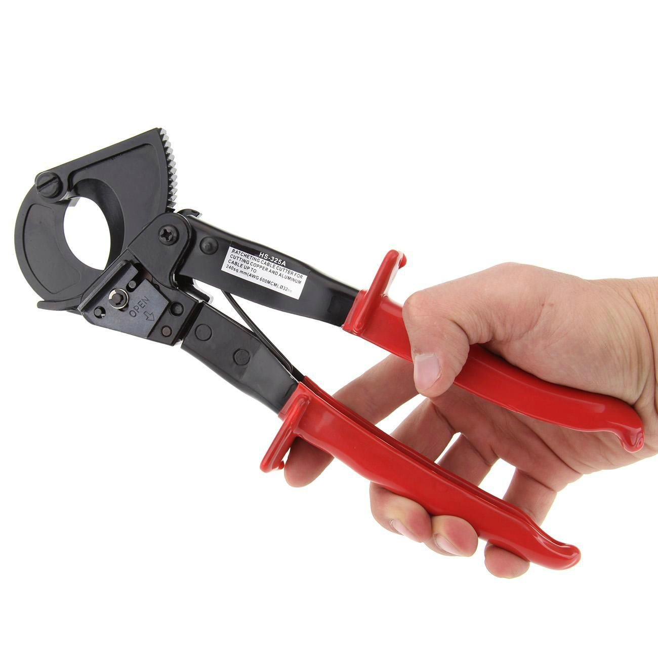 Agile-shop Ratchet Cable Wire Cutter Dual purpose: It cuts wires… but we also keep it handy to quickly cut lines in an emergency.