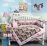 SoHo Baby Crib Bedding 10Pc w Diaper Bag, PinkCamo
