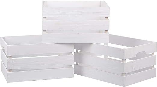 Nature by Kolibri Caja de madera vintage, juego de 3 cajas