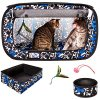 """CheeringPet, Cat Travel Cage: Portable Pop Up Pet Crate with Collapsible Litter Box, Foldable Feeding Bowl, Hanging Feather Teaser and Ball, Carrying Bag, Extra Large 32"""" X 19"""" X 19"""" 2"""