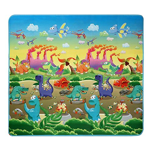 Extra Large Baby Play Mat - Non-Toxic Non-Slip Waterproof Playroom Nursery Game Crawling Rugs - Double Sides Foam Floor PlayMat for Babies Toddlers and Kids - 70.2x78x0.2inch