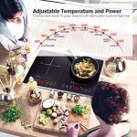 Piastra a Induzione Amzchef, Doppia Piano Cottura a Induzione con Controllo Indipendente, 10 Livelli di Temperatura…
