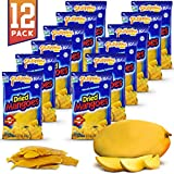 Philippine Brand Dried Mangoes Fruit Snacks {12 PACK} All Naturally Gluten Free, Vegan, Hand-Selected Delicious Fresh Mangos from Philippines, Grab and Go Perfect for Office & School Food