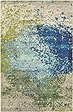 Unique Loom Estrella Collection Colorful Abstract Blue Area Rug (5' 0 x 8' 0)