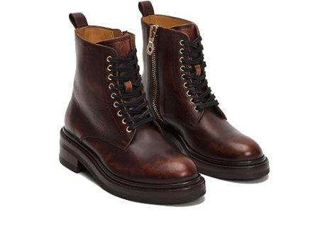 FRYE 79913 Women's Alice Combat Boot, Wine - 8.5 B(M) US