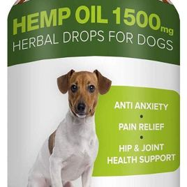 Pawesome Hemp Oil for Dogs Cats – 2oz – 3000 MG Made in USA Hemp Extract – Organic Pet Hemp Oil – Natural Pain Relief, Support Hip & Joint Health, Separation Anxiety, Omega-3, 6